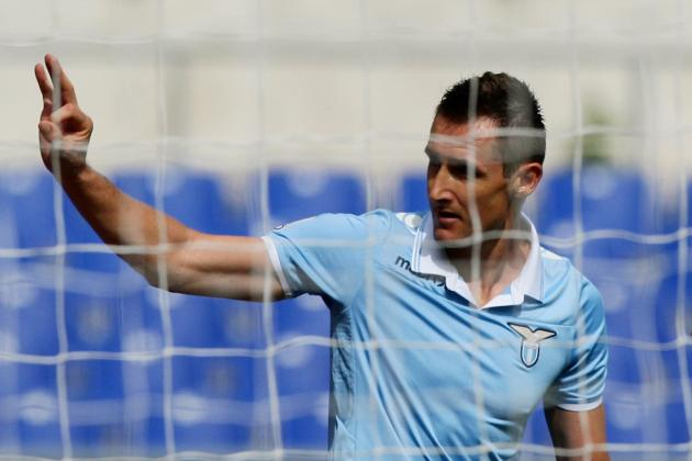 GIFs: Klose's Incredible 5 Goals for Lazio Against Bologna