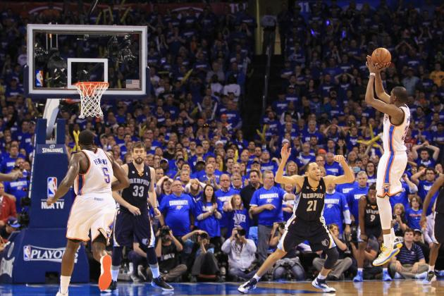 Thunder-Grizzlies Game 1 Video: Kevin Durant's Dagger Gamewinner