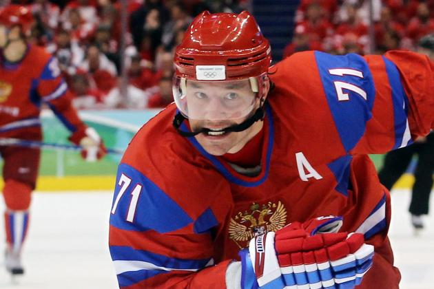 Kovalchuk's Hat Trick Powers Russia at Worlds