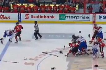 VIDEO: Canadiens and Senators Take Part in Huge Line Brawl