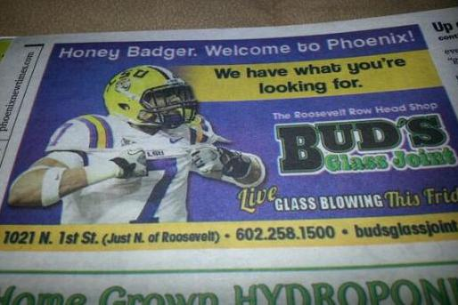 Phoenix Head Shop Takes Out Ad in Newspaper Trolling Tyrann Mathieu
