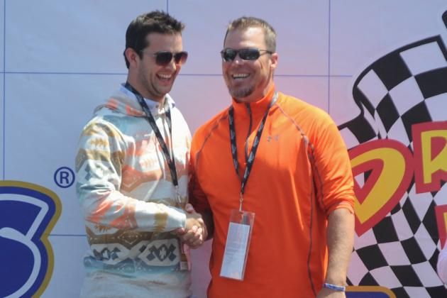 McCarron Talks NASCAR, Football Before Driving Pace Car at Talladega