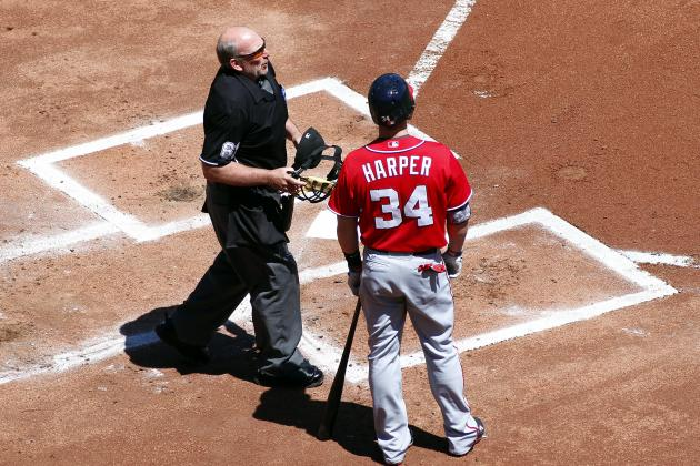 Bryce Harper Ejected in First Inning Arguing Check Swing