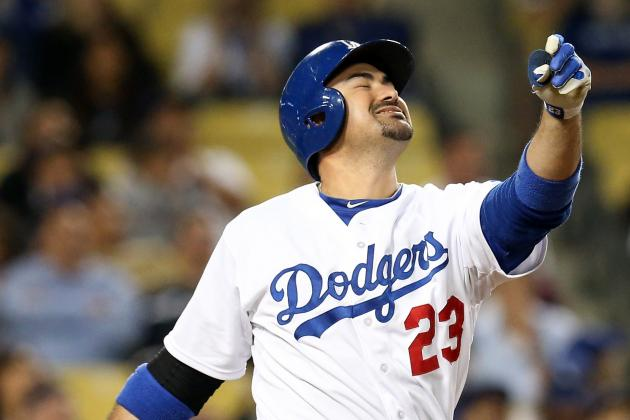 Dodgers' Adrian Gonzalez Won't Be Switching Back on His Swing