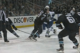 Sharks' Couture on Sedin Whack: 'I'll Take It All Day' for PP Chance