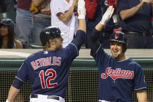 Reynolds' Blast Highlights Indians' 7-3 Victory over Athletics