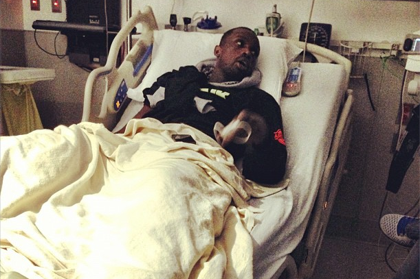 Luol Deng Watches Bulls-Heat Game 1 from Hospital Bed
