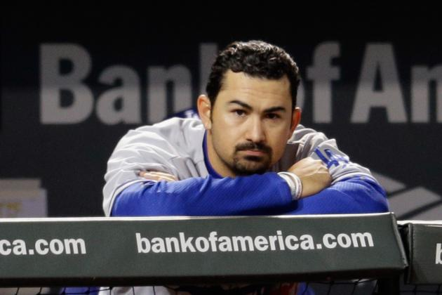Adrian Gonzalez Plans to Play for Dodgers Despite Strained Neck