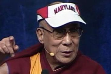 The Dalai Lama Wears a Terps Visor