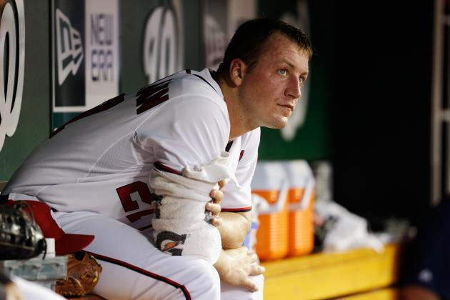 Jordan Zimmermann Pelted with Sunflower Seeds and Gum During Interview
