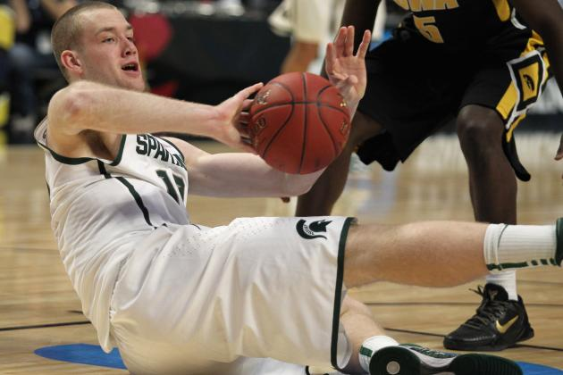 Michigan State Basketball's Matt Costello, Alex Gauna on the Clock at Center