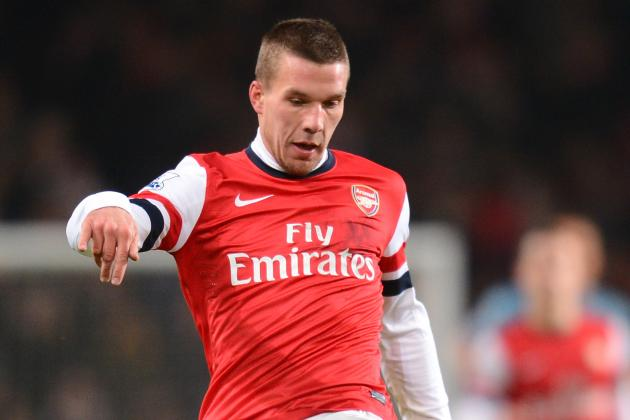 Arsenal FC: Breaking Down Lukas Podolski's Premier League Stats This Season
