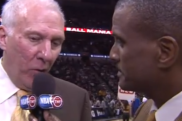 Video: Gregg Popovich Wants Another Sideline Question?