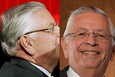 David Stern Channels Inner Pat Riley with Hilarious New Hairdo