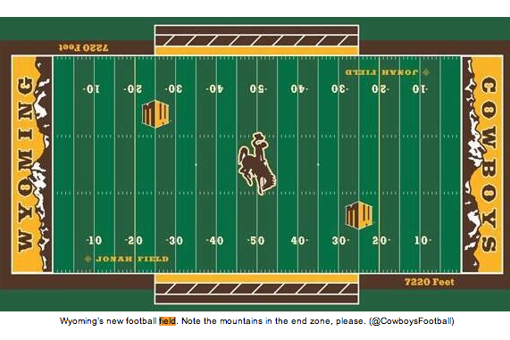 Wyoming's New Football Field: Now with 100 Percent More Mountains