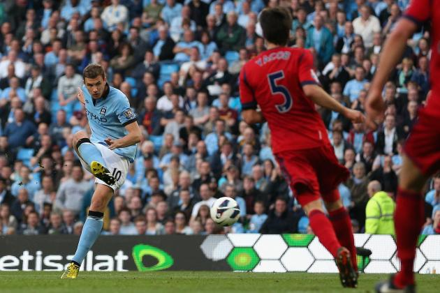 Man City GIF: Is This Edin Dzeko's Last Goal for the Club?