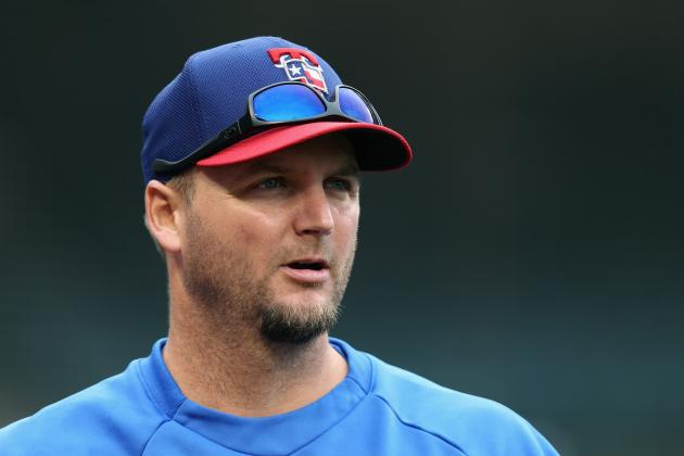 A.J. Pierzynski Scratched from Rangers' Lineup
