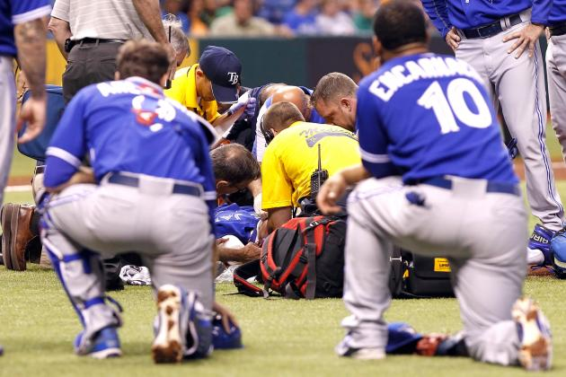 J.A. Happ Sustains Scary Head Injury After Being Hit by Line Drive