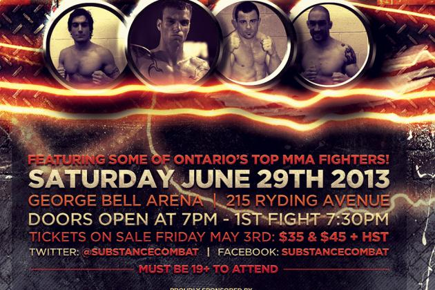 Inaugural Substance Cage Combat (SCC) Ready to Develop Ontario's MMA Scene