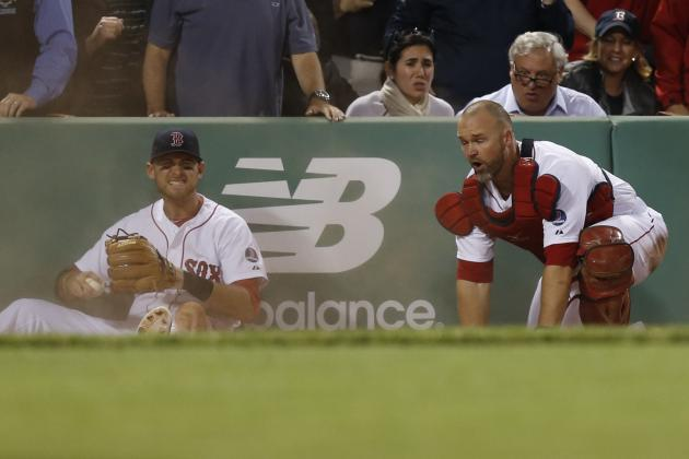 David Ross Exits After Collision with Will Middlebrooks