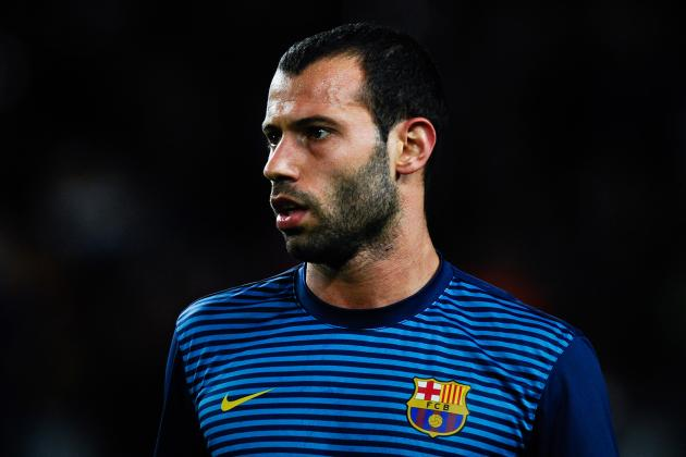 Barcelonas Javier Mascherano Resumes Training After a Knee Injury