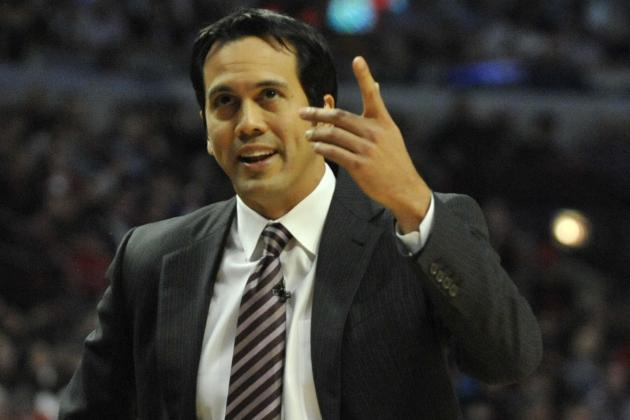 Heat's Erik Spoelstra Second in Coach of the Year Voting