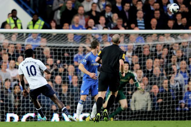 Chelsea vs. Tottenham: Watch GIF of Emmanuel Adebayor's Superb Goal
