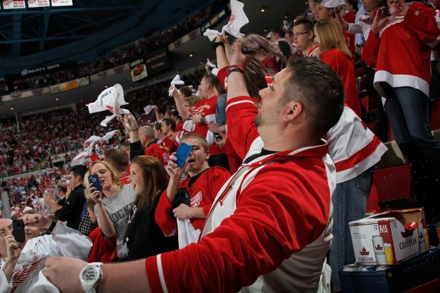 Don't Expect Wings' Fan Support to Disappear as Playoff Series Moves to ANA