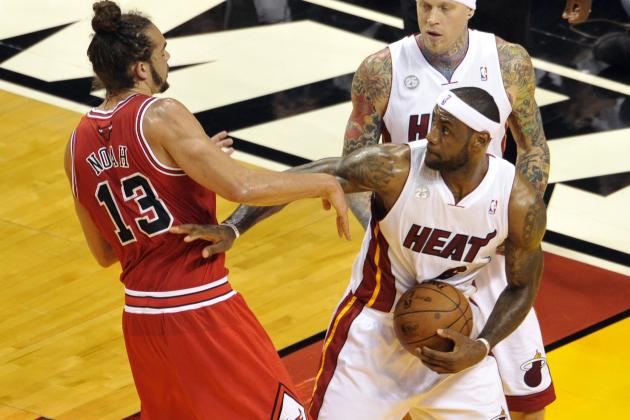 VIDEO: Joakim Noah and LeBron James Scuffle in Game 2