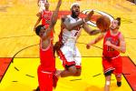 Heat Destroy Bulls in Game 2 to Even Series