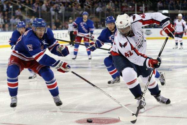 Rangers Hold Off Caps in Third, Even Series at 2