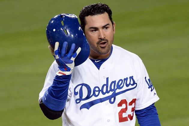 Dodgers Confirm Adrian Gonzalez Day-to-Day with Neck Strain