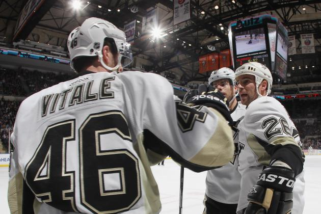Vitale, Kennedy to Draw in for Pens; Martinek Likely for Isles