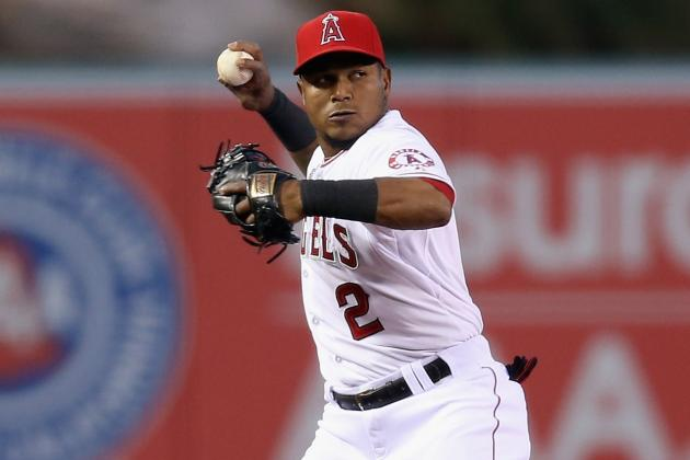 Erick Aybar Leaves with Hamstring Tightness
