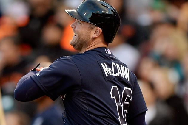 McCann Drives in 3 as Braves Beat Giants 6-3