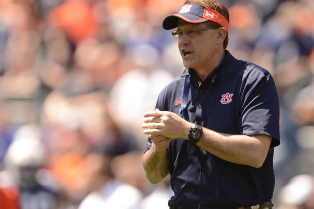 Malzahn Feels Good About Quarterback Situation at Auburn