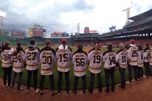 Boston Blades Recognized for Championship Win by Red Sox at Fenway Park