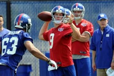 Nassib Looks 'Poised' in First Practice with Giants