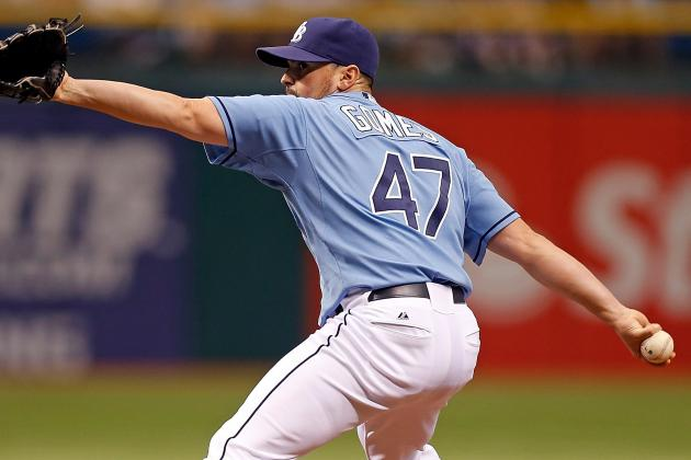 Rays Place Gomes on DL, Recall Josh Lueke