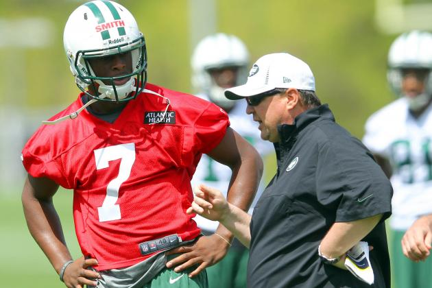 Geno Smith Gives Himself 'F' for 1st Jets Practice