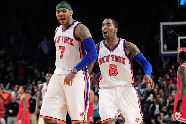 Carmelo Anthony Rushes to J.R. Smith's Defense over Rihanna, Focus