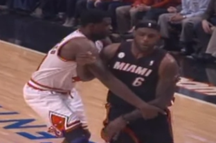Video: Bulls' Nazr Mohammed Ejected for Shoving LeBron