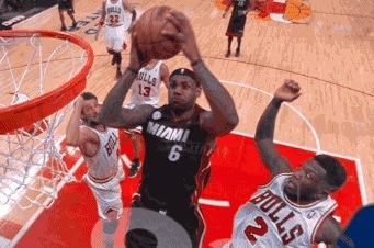 Nate Comes Up with Nasty Block on LBJ