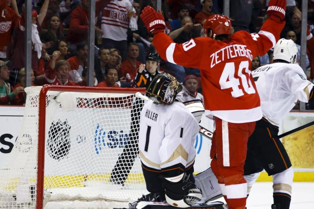 Zetterberg Scores OT Goal to Keep Red Wings Alive