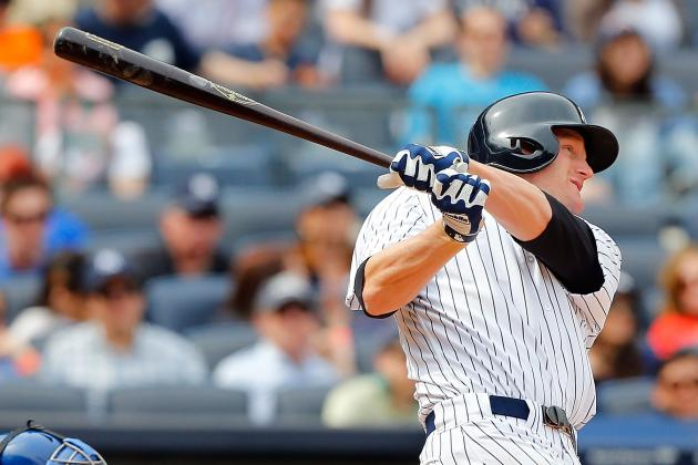 Lyle Overbay Drives in Five Runs in Yankees Win over Kansas City Royals