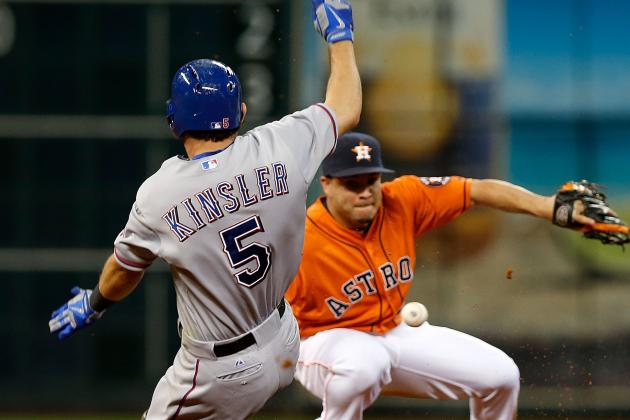 Baker's HR, Relievers Lift Rangers by Astros