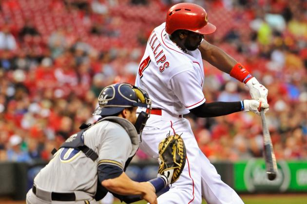 Phillips' HR, Defense Lead Reds by Brewers