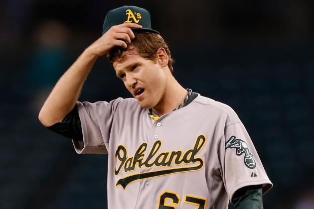 A's Drop Fifth in Row, Fall Below .500