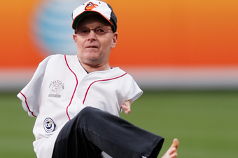 Man with No Arms Throws First Pitch at Orioles Game with Foot