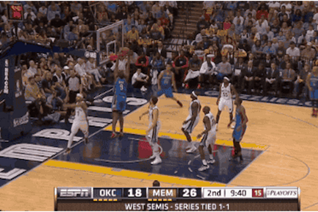 Ibaka Misses 2nd Wide-Open Dunk of Game